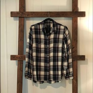 Madewell Plaid Button Down- LARGE